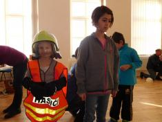Děti ztvárnily práci hasičů