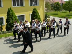 Vystoupení dechové hudby Podboranka vobci